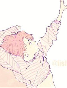 Jimin Fanart, Yoonmin Fanart, Kpop Fanart, Jikook, K Pop, Fanarts Anime, Levi X Eren, Bts Drawings, Bts Chibi