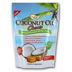 Healthy Delights™ Coconut Oil Chews - NU GREENS 1009887 - GNC
