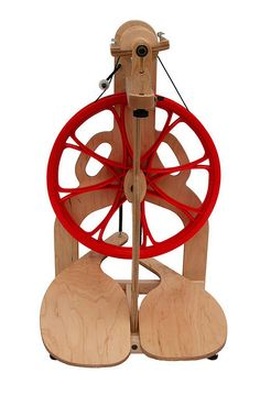 Schacht Ladybug Spinning Wheel, this wheel has the older style red wheel.....still looking for one of these wheels to join my herd.