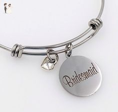 Bridesmaid Charm Bangle Bracelet - Wedding - Wedding bracelets (*Amazon Partner-Link)