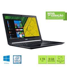 "Notebook Acer A515-51-56K6 Intel Core I5-7200U 8GB 1TB Tela LED 15.6"" Windows 10 << R$ 184799 >>"