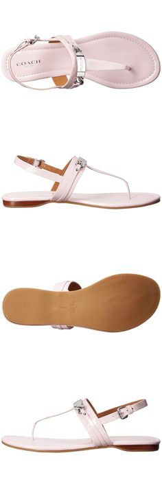 65b8df3c485f65 Sandals and Flip Flops 62107  Coach Caterine Women Thong Sandal Flats  (34A7799-Ptl) Leather Petal Size 8.5 New -  BUY IT NOW ONLY   59.99 on eBay!