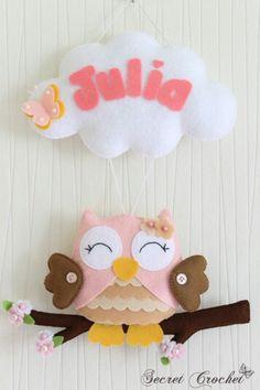 felt owl namebanner