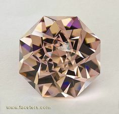 Blush Tourmaline with a Fancy Cut that Looks like a Flower #Amazing #Gemstones