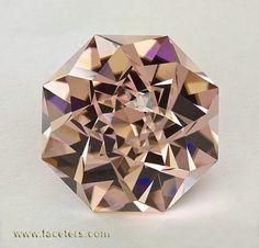 Blush Tourmaline with a Fancy Cut that Looks like a Flower #Amazing #Gemstones