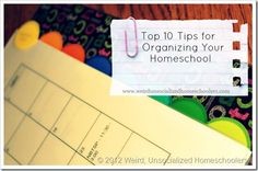 homeschool organization 10 Tips
