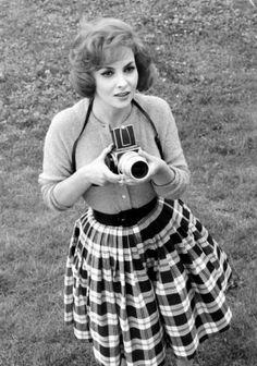Gina Lollobrigida as a photographer