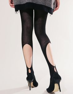 CHIC APPEAL, WOOL CUT-OUT TIGHTS: tempted. they're wool so that's kind of worth the $79