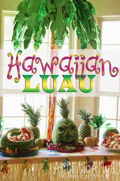 {Artistic Anya Designs} Hawaiian Luau Party Ideas
