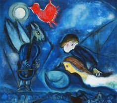 Marc Chagall : Aleko et  Zemphira. 1955