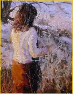"""January Afternoon"" by Scott Mattlin Oil ~ 10"" x 8"""