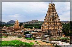 Aerial view of Virupaksha Temple