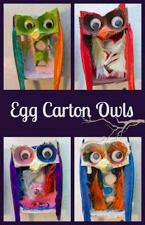 Life with Moore Babies: Egg Carton Owls. This is totally easy to do, and looks really cool!
