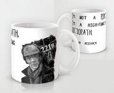 Mug Sherlock Holmes Psychopath Quote, Coffee or Tea Ceramic Large Mug 11 0r 15…