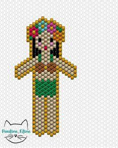 Un diagramme de plus pour la collection ! #jenfiledesperlesetjassume #miyukibeads #miyuki #perleaddict #perles #diagrammeperles #beadwork #beadpattern #motifpauline_eline #brickstitch #hawaii