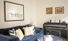 GRAPHIC + BRIGHT ALL-ACTIVITIES LIVING ROOM by Michelle Gage