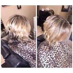 Short hair waves curls Highlights and balayage/ombré on ends dark base olaplex by Brittany at stouts salon in Knoxville Tennessee