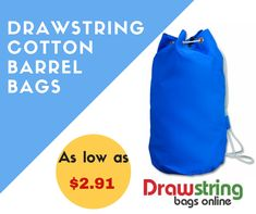 This custom drawstring cotton barrel bag makes a perfect gifting choice for marketers who are searching for a fitting gift to acknowledge their loyal customers. This drawstring bag is made up of lightweight cotton canvas and it offers bigger storage Cotton Drawstring Bags, Drawstring Backpack, Barrel Bag, Online Bags, Bag Making, Cotton Canvas, Adventure, Marketing, Drawstring Backpack Tutorial