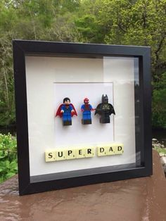 Customised Superhero Lego Frames Marvel DC by HandmadeByLauraDee