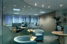 Commercial Office Fit Out services cover a range of areas in a premises. Office Innovations are experienced at designing and fitting out tailor made office spaces. Office Fit Out, Laminated Glass, Curved Walls, Glass Partition, Lobby Design, Light And Space, Traditional Interior, Design Development, Contemporary Style