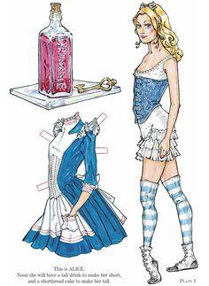 Freebie: Alice in Wonderland Paper Doll