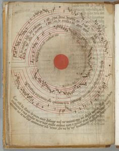 Circular song  Medieval music books, with their merry notes jumping off the page, are a pleasure to look at. This sensational page from the 14th century adds to this experiencein a most unusual manner. It presents a well-known song, the French ballade titledEn la maison Dedalus (In the house of Dedalus), be it that the scribe decided to write both music and lyrics in a circular form. There is reason behind this madness. The maze created by music and words locks up the main character of the…