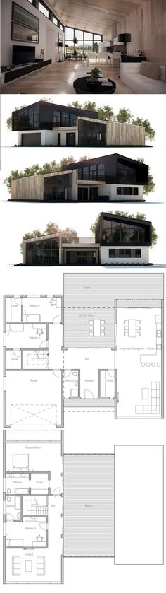 Modern House Plan With Four Bedrooms. Modern House Plan To Modern Family.