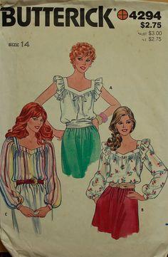 1970s Blouse Set Butterick Pattern