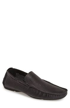 Carlo Pazolini Perforated Leather Driving Moccasin (Men)