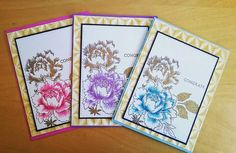 Card set with #altenew stamps.