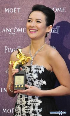 """Iconic Chinese movie star Zhang Ziyi won the best leading actress award at the Golden Horse Awards, considered the Chinese-language Oscars, for her performance in the film """"The Grandmaster."""""""