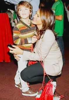 Mariska Hargitay and August - such a cute kid!