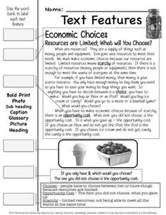 Economics: Allocating, Good and Services Unit - SS 3rd Grade Social Studies, Social Studies Resources, Teaching Social Studies, Second Grade Science, Nonfiction Text Features, Study Board, Reading Projects, Teachers Aide, 3rd Grade Reading