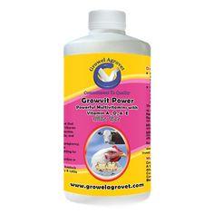 Growel Growvit Power Cattle, Poultry and Bird Vitamin Supplements of 10 Essential Vitamins -100ml Growel Growth Supplements, 10 Essentials, Poultry Farming, Livestock, Cattle, Farm Animals, Pet Supplies, Goats, Vitamins