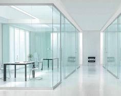 Ufficio Job Placement Bicocca : Glass wall panels let in natural light modern office pinterest