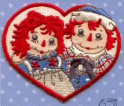 Raggedy Ann & Andy Appliques / Iron-Ons