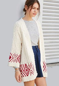 Geo-Patterned Longline Cardigan | Forever 21 | #thelatest