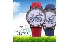 2 ceasuri Women's Dress Watches, Bicycle Design, Sport Watches, Fashion Watches, Bracelets, Quartz, Bike, Display, Accessories