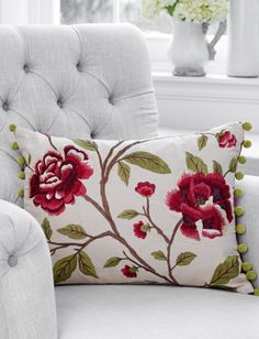 The Beauty of Red Decor | Botancial Inspired Pillows