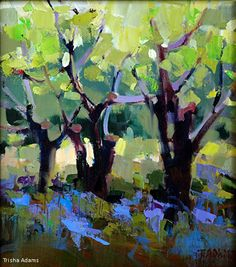 Old Orchard by Trisha Adams Oil ~ 13 x 11.5