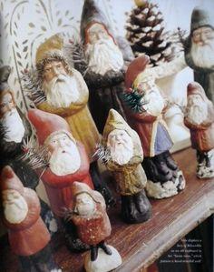 Vintage Chalkware Santas