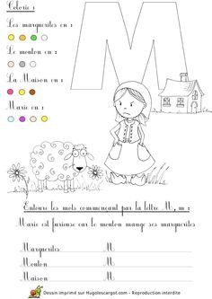 lettre l alphabet ab c daire p dagogique dessins commen ant par la lettre entourer. Black Bedroom Furniture Sets. Home Design Ideas