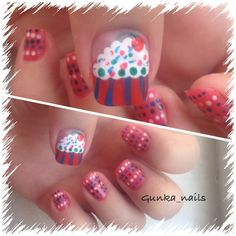 cupcake nail :)