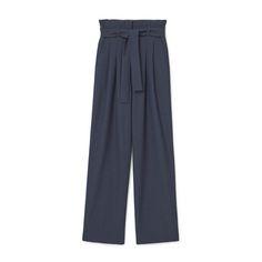 Belt Cotton-Blend Pants, Mango $80