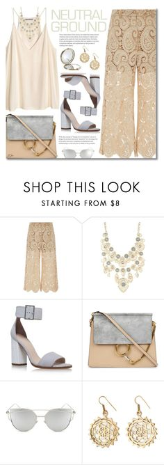 """Neutral Ground"" by jgee67 ❤ liked on Polyvore featuring H&M, self-portrait, Charlotte Russe, Carvela Kurt Geiger, Chloé, Chicnova Fashion, Henri Bendel, polyvoreblogger and polyvoreeditorial"