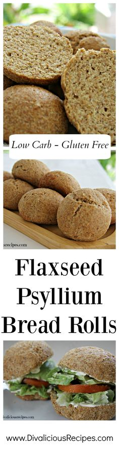 psyllium husk bread rolls that are easy to make and look like proper bread too! High in fibre, low in carbs and gluten free they are a great healthy bread roll. Lowest Carb Bread Recipe, Low Carb Bread, Keto Bread, Paleo Pizza, Best Nutrition Food, Health And Nutrition, Flaxseed Bread, Cetogenic Diet, Keto Friendly Desserts
