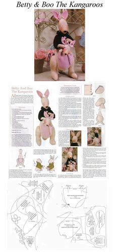 Betty & Baby Boo Kangaroo Patterns