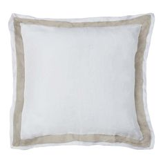 Orfeo Linen Euro White-Natural