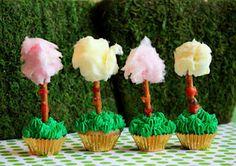 Lorax Tree Cupcakes
