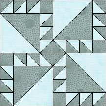 Block of Day for February 14, 2016 - Irish Puzzle-strip piecing The pattern may be downloaded until:Sunday, February 28, 2016.